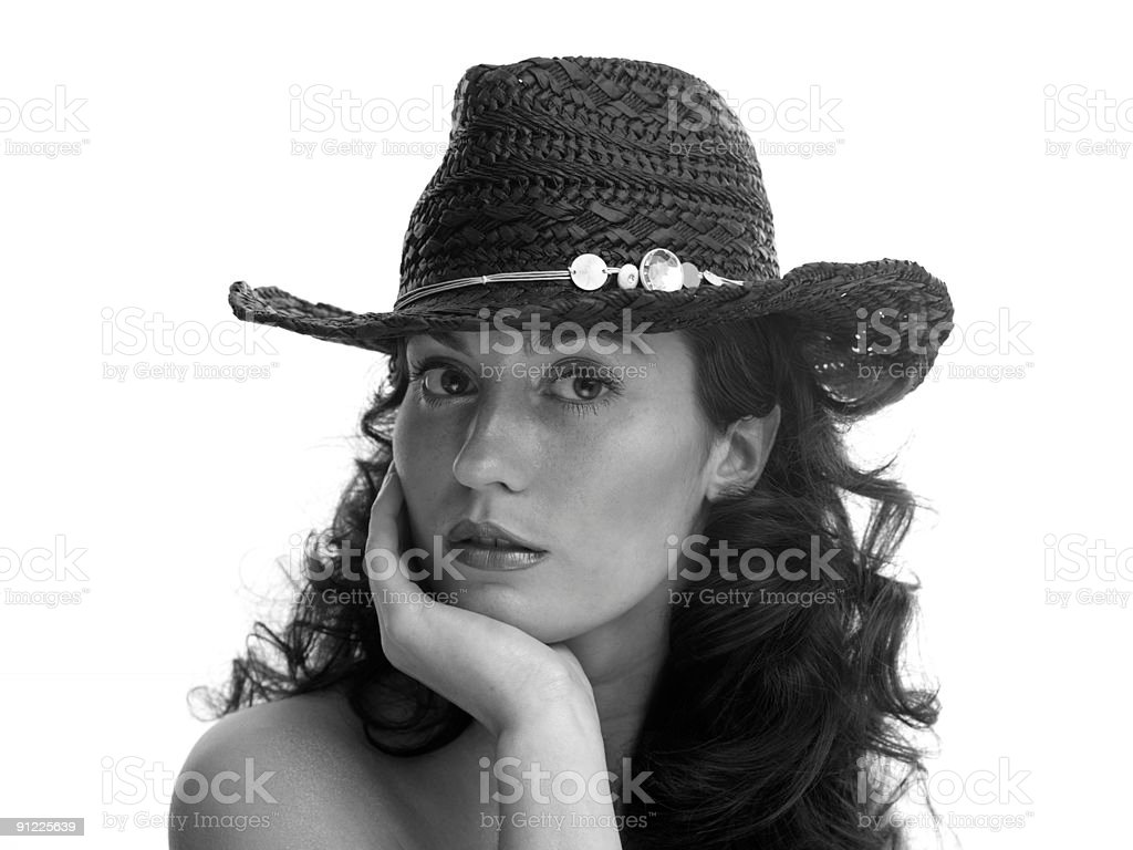 cowboy girl stock photo