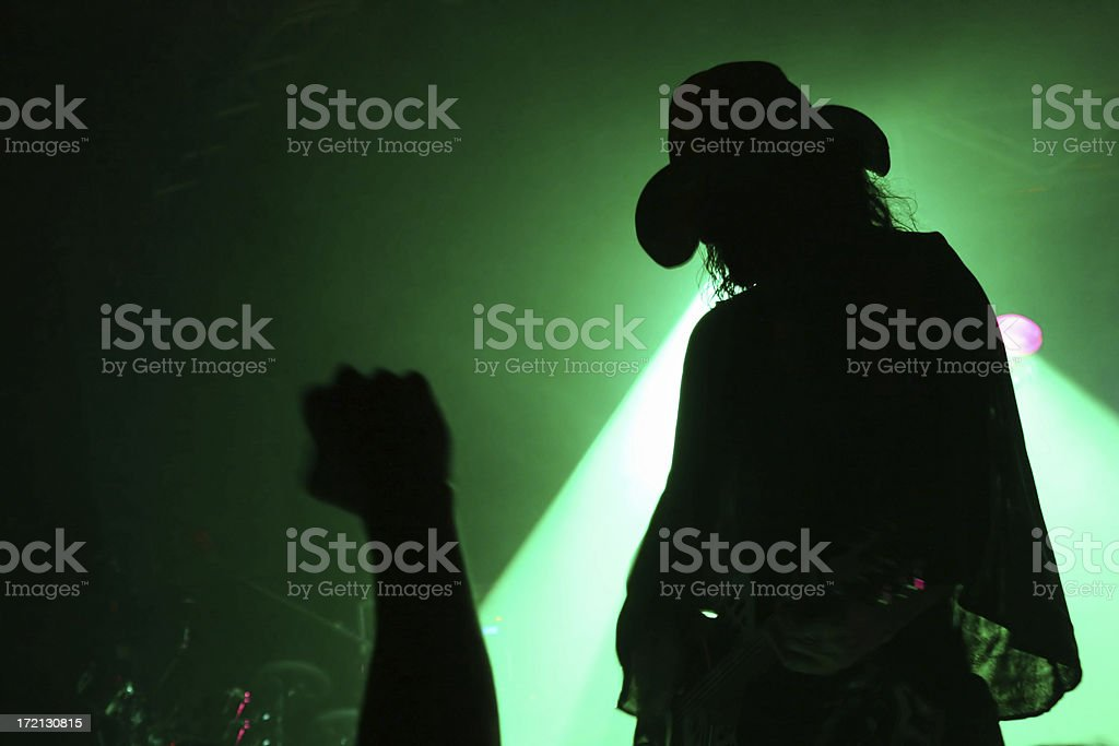 Cowboy guitarist on stage royalty-free stock photo