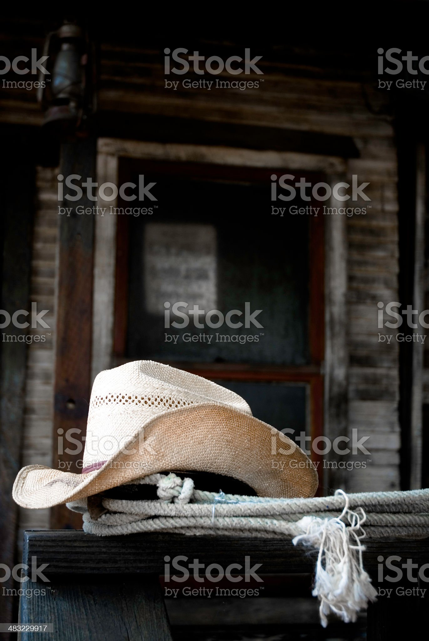 Cowboy Hat and Lariat royalty-free stock photo