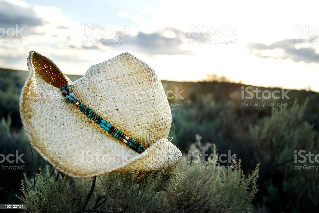 Cowboy Hat at Sunset royalty-free stock photo