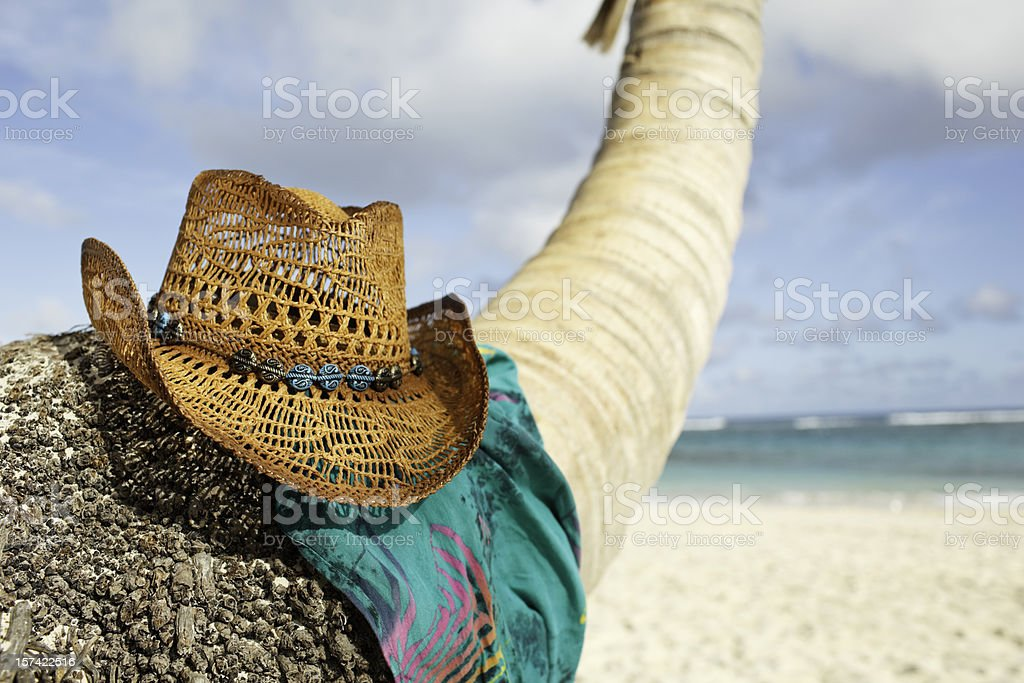 Cowboy Hat Beach royalty-free stock photo