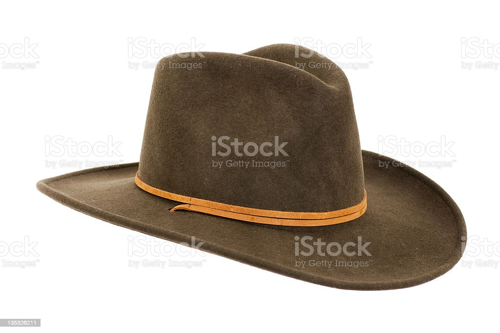 Cowboy Hat Close-up stock photo