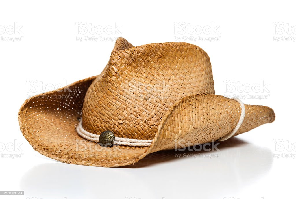 cowboy hat isolated side stock photo
