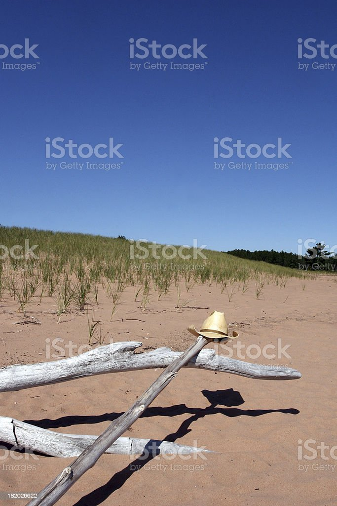 Cowboy Hat on the Beach royalty-free stock photo