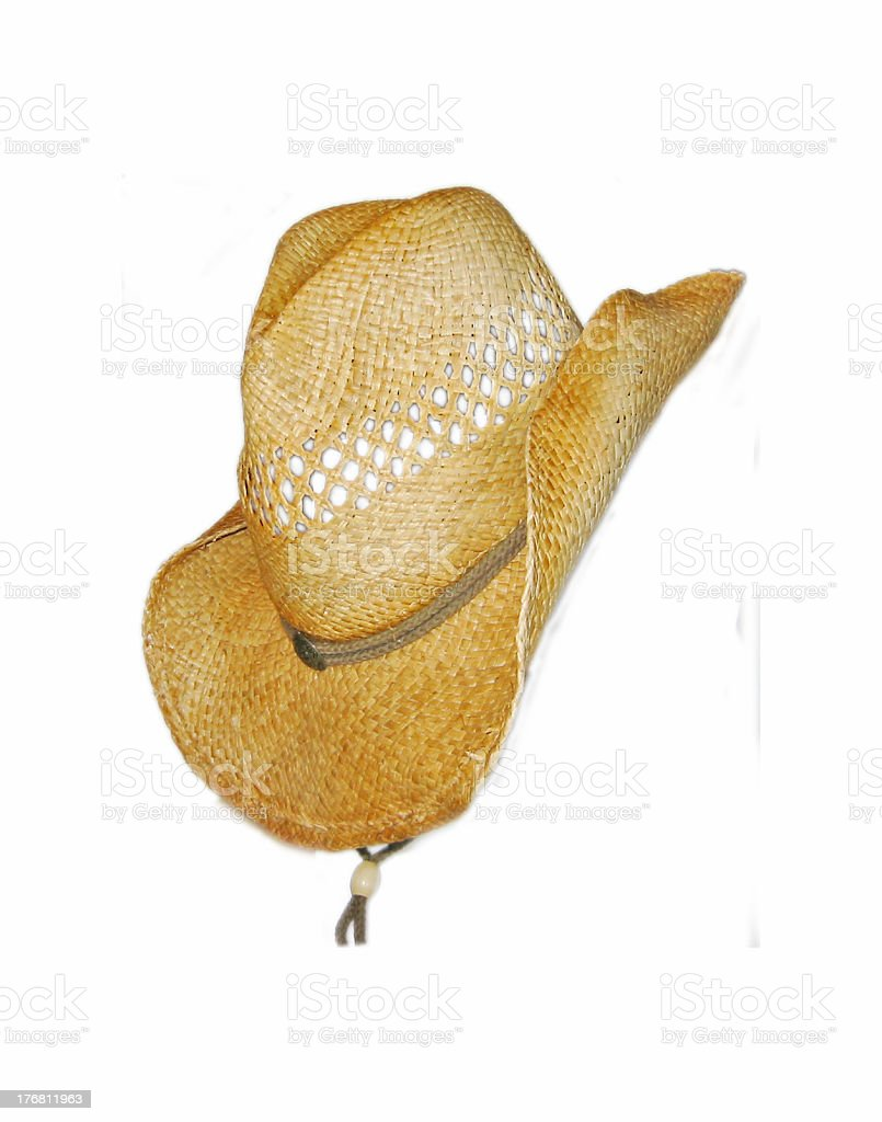 cowboy hat on the side stock photo