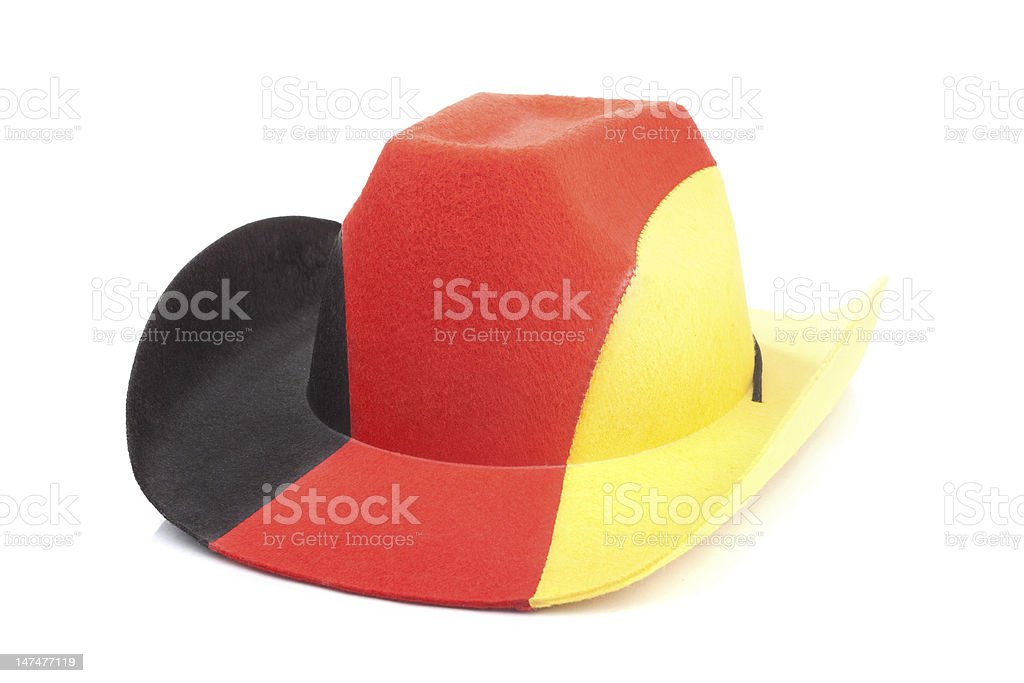 Cowboy hat with German flag stock photo