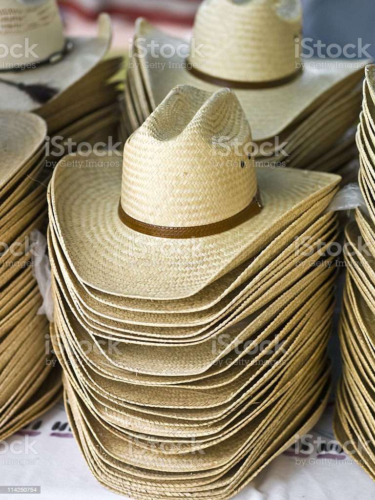 Cowboy hats royalty-free stock photo