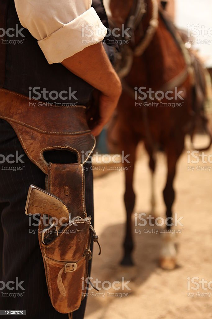 Cowboy in the wild west stock photo