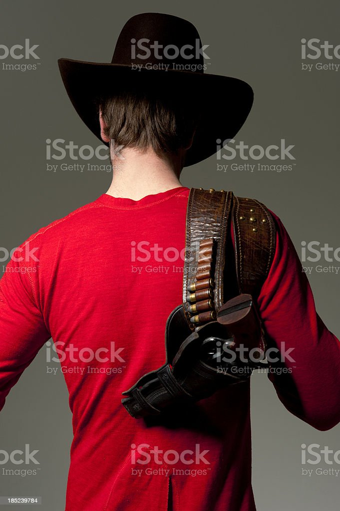 Cowboy in Underwear royalty-free stock photo