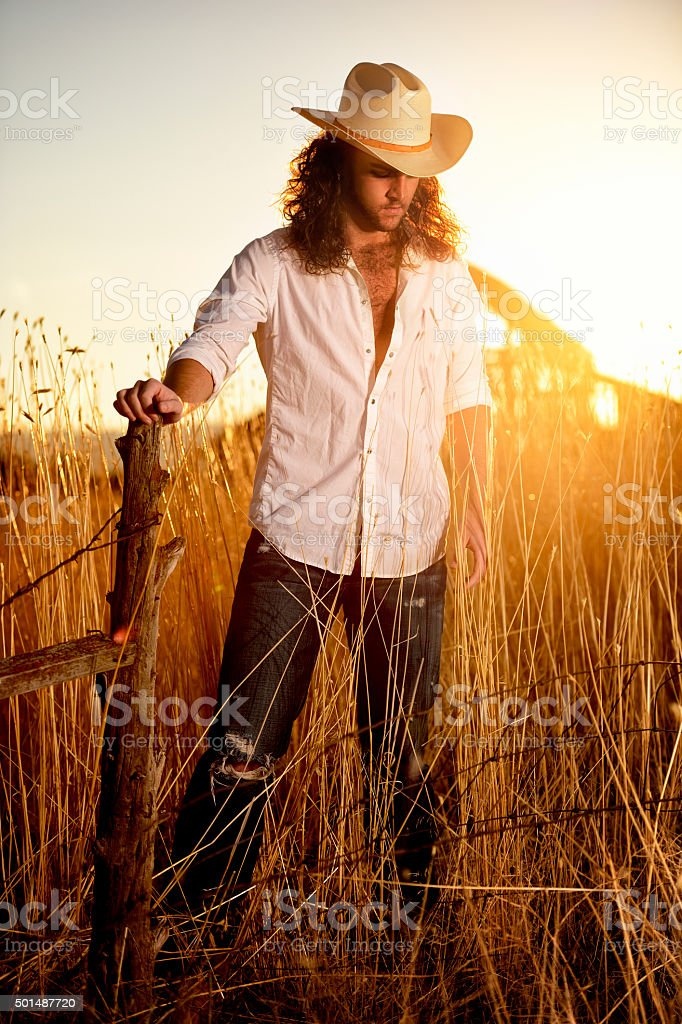 Cowboy Life On The Ranch stock photo