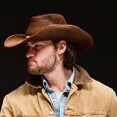 Cowboy looking away
