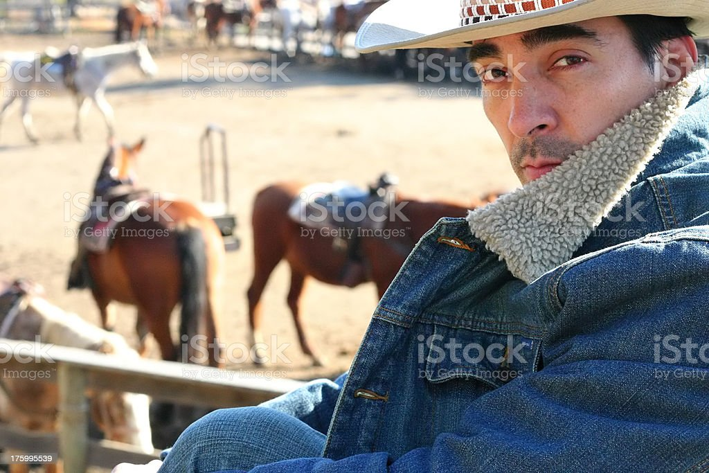 Cowboy on Ranch II royalty-free stock photo