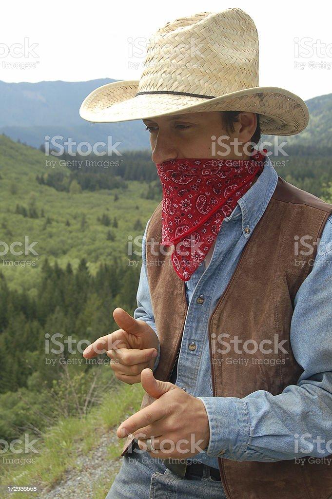 Cowboy Outlaw stock photo