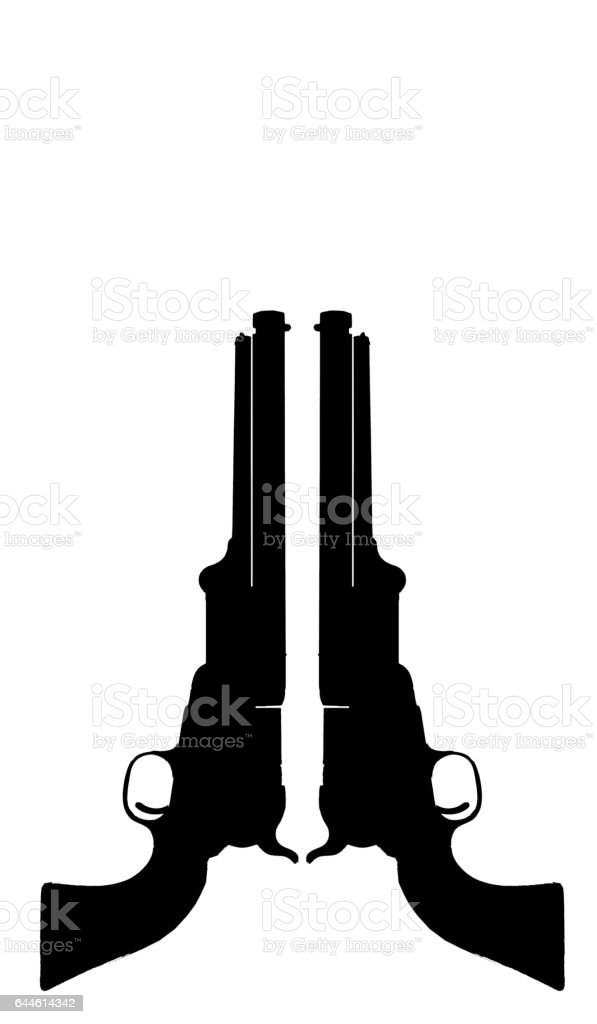 Cowboy Pistols. stock photo