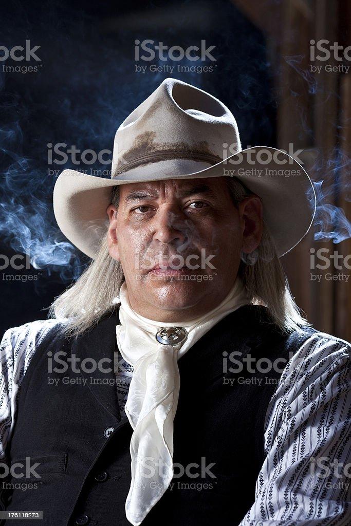 Cowboy portrait stock photo