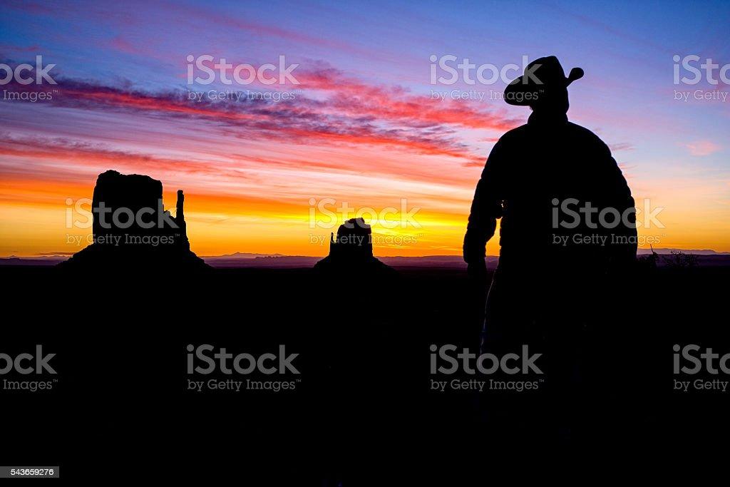 Cowboy Rancher in Monument Valley Arizona stock photo