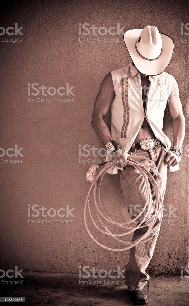 Cowboy resting royalty-free stock photo
