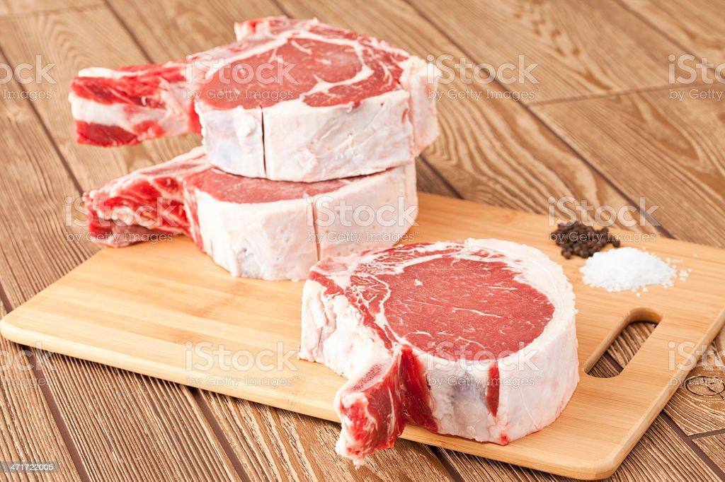 Cowboy Rib Steak royalty-free stock photo