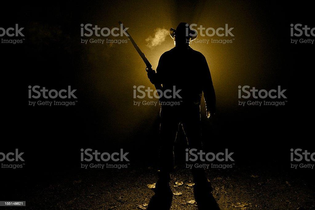 Cowboy Rifleman stock photo