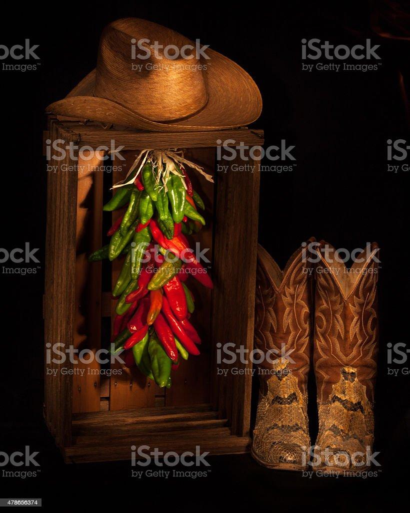 Cowboy Ristra Closet stock photo