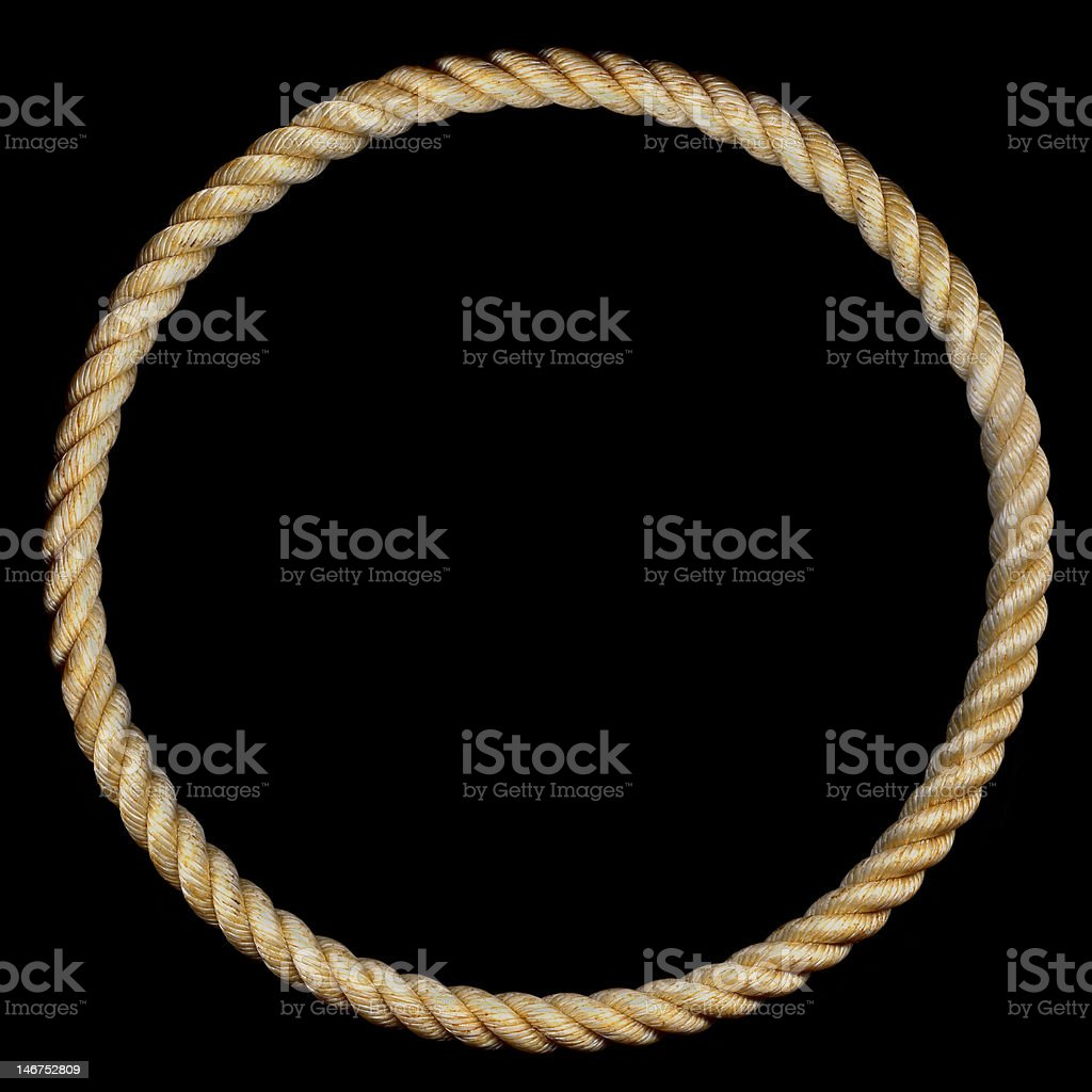 Cowboy Rope Frame stock photo