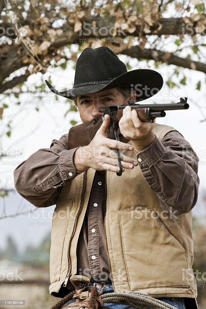 Cowboy Shooter royalty-free stock photo