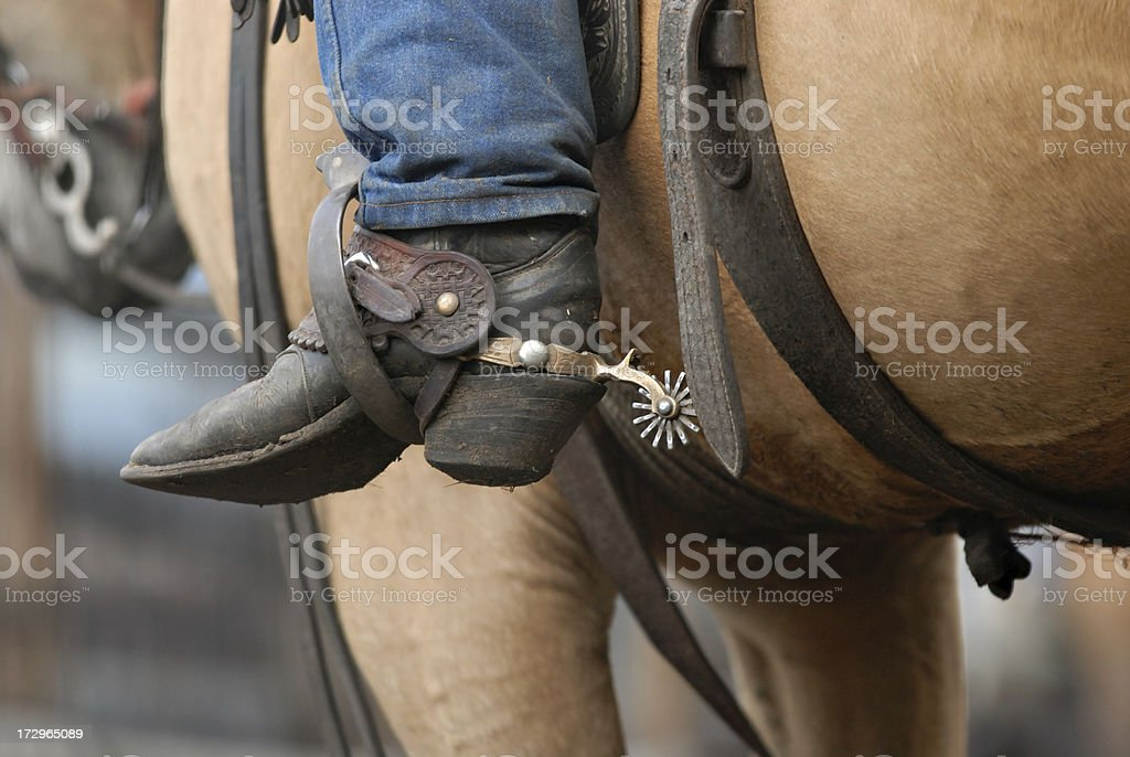 Cowboy Spur stock photo