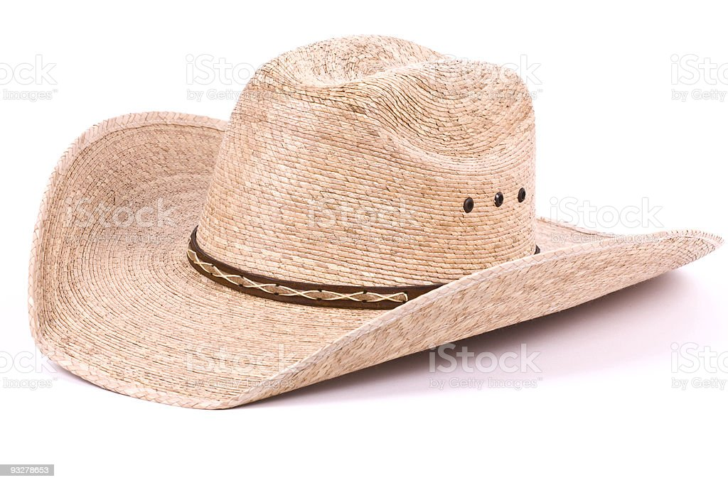 Cowboy straw hat. royalty-free stock photo