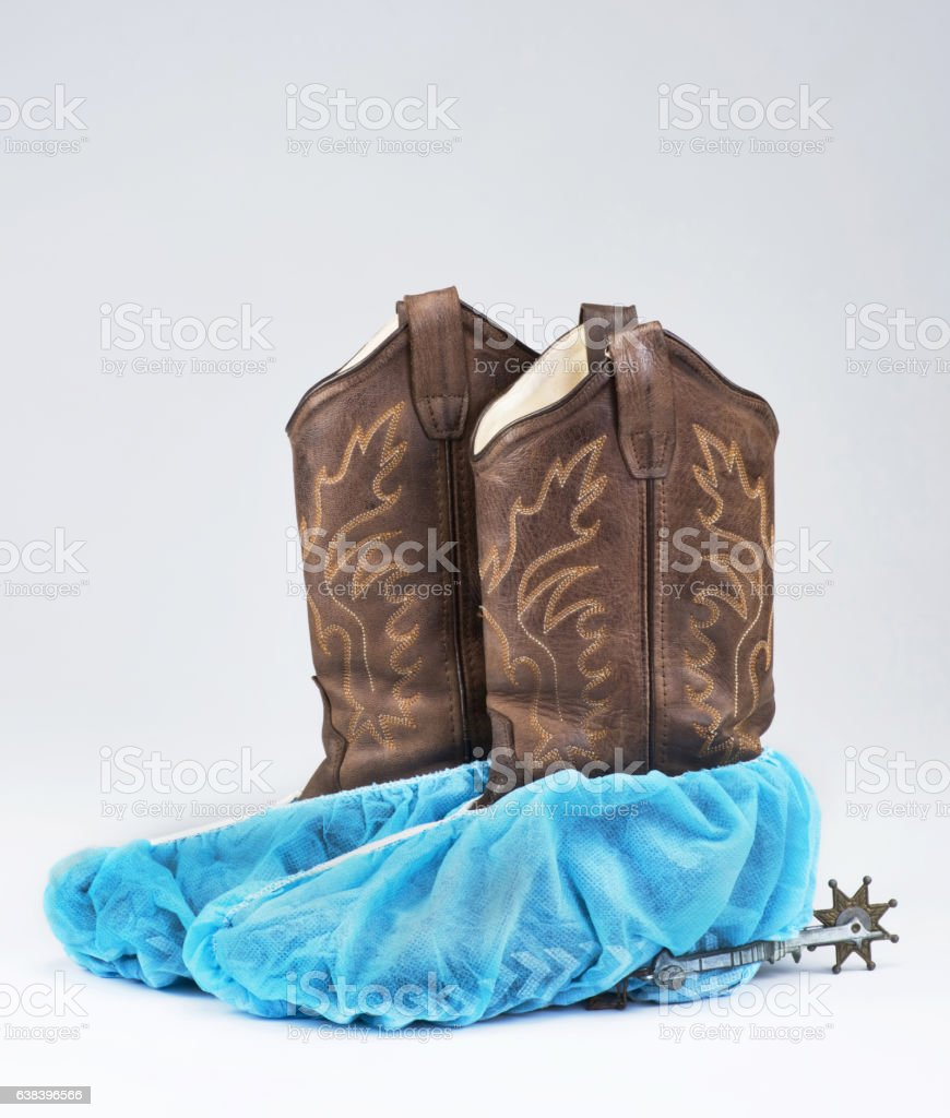 Cowboy Surgical Boots. stock photo