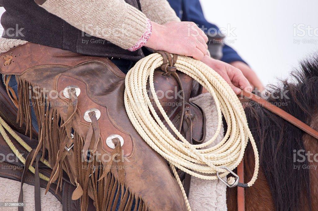 Cowboy Tools. stock photo