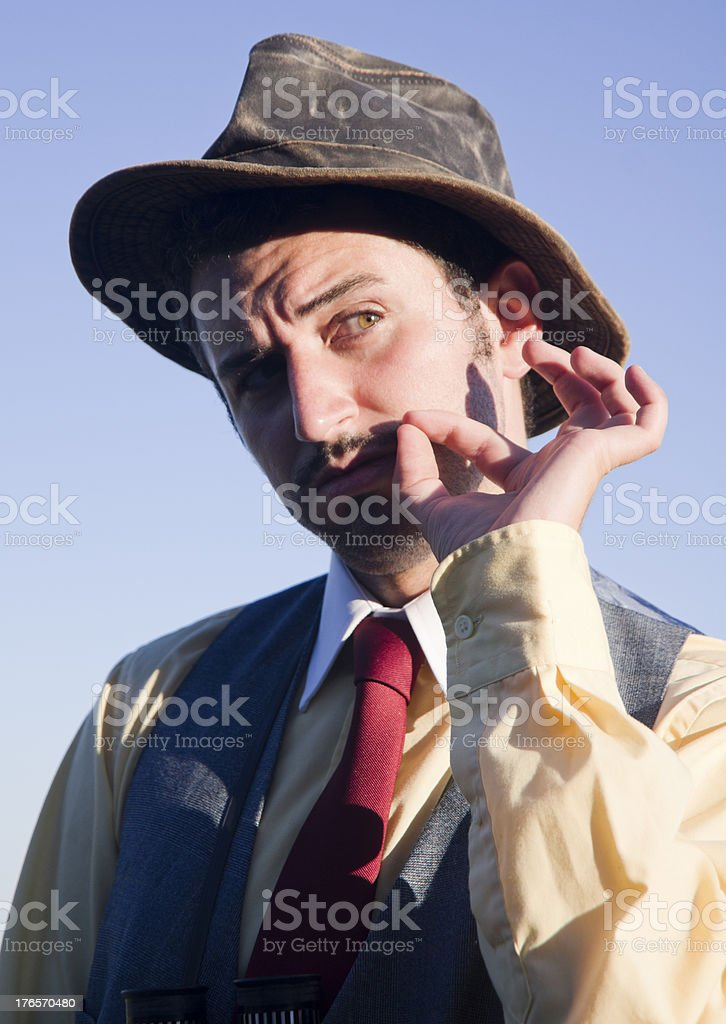Cowboy Twirling his Mustache royalty-free stock photo