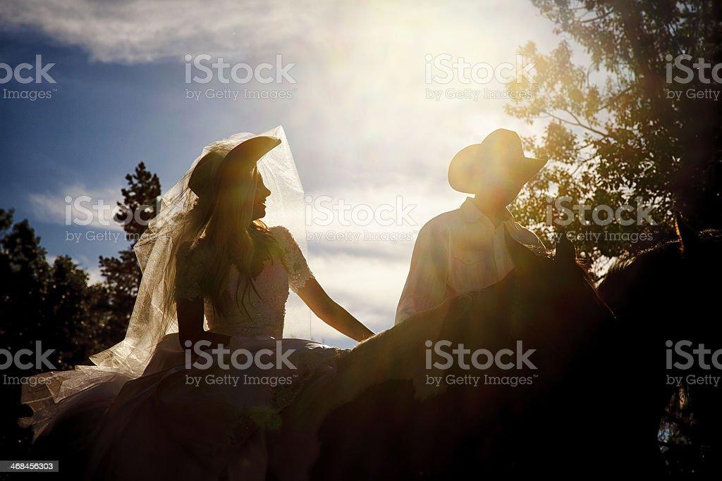 Cowboy Wedding royalty-free stock photo