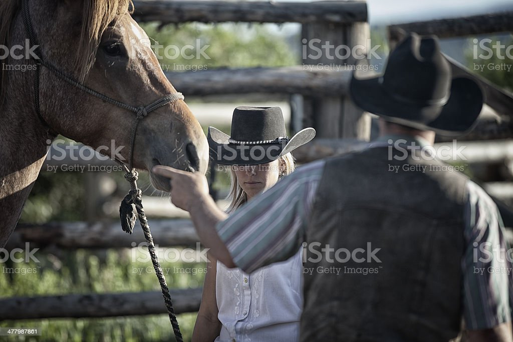 Cowboys and Cowgirls stock photo