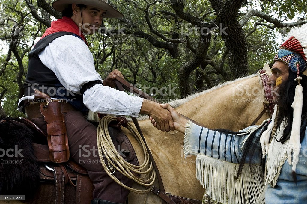 cowboys and indians royalty-free stock photo