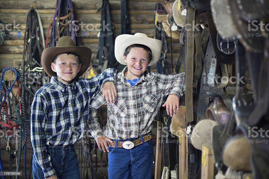 Cowboys buddies royalty-free stock photo