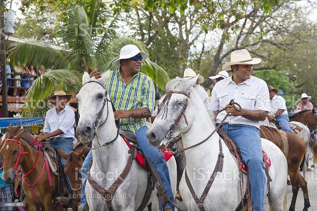 Cowboys on parade stock photo