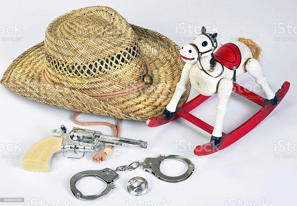Cowboys Toys. stock photo