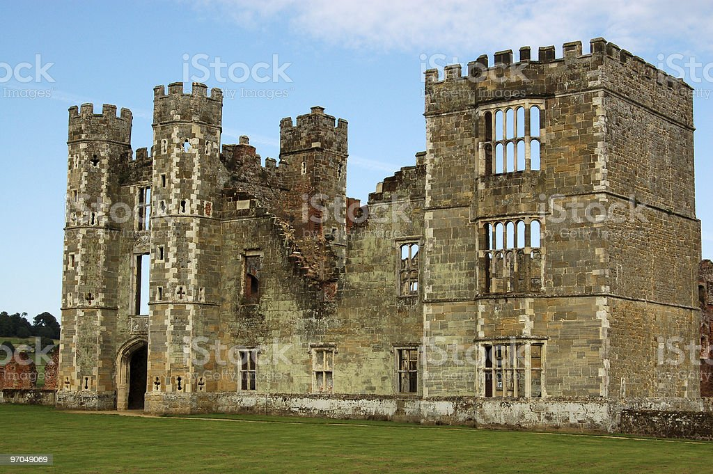 Cowdray Ruins, West Sussex stock photo