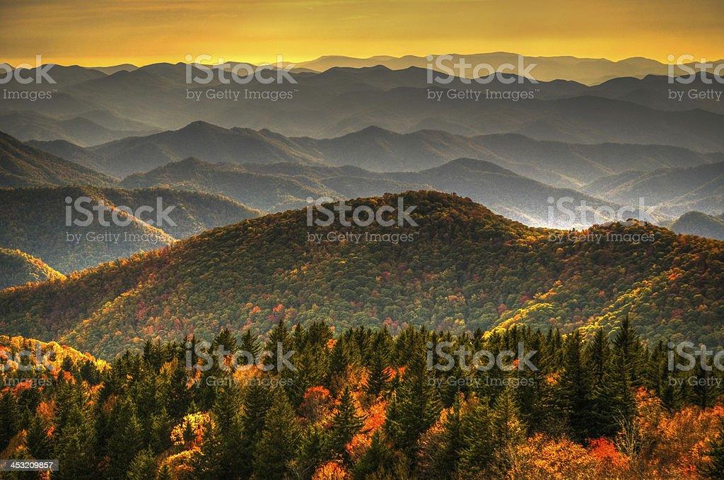 Cowee Mountains stock photo