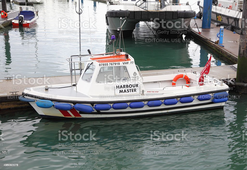 Cowes harbour master's pilot boat stock photo