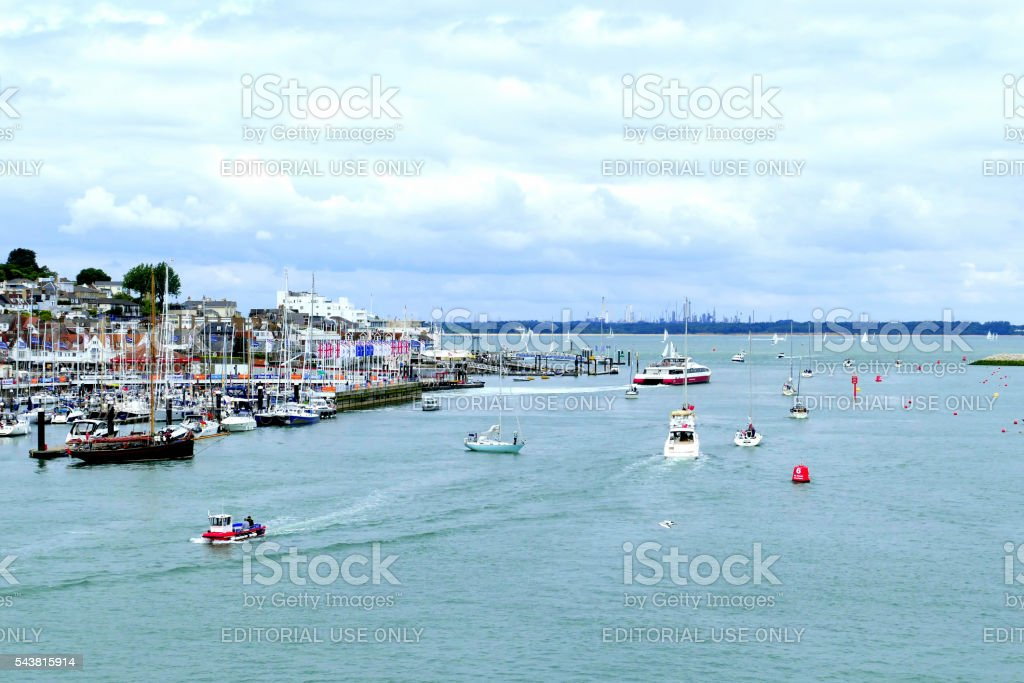 Cowes, Isle of Wight. stock photo