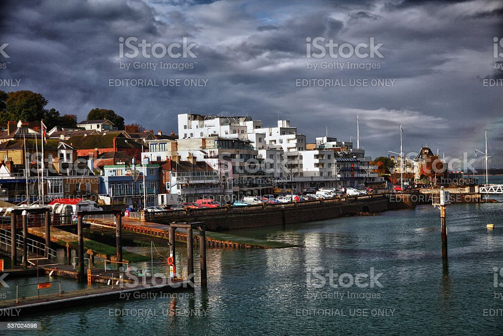 Cowes,Isle of Wight peninsula stock photo