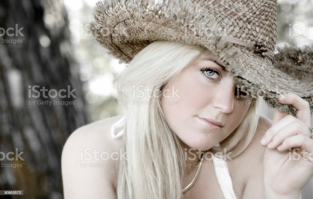 Cowgirl Beauty stock photo