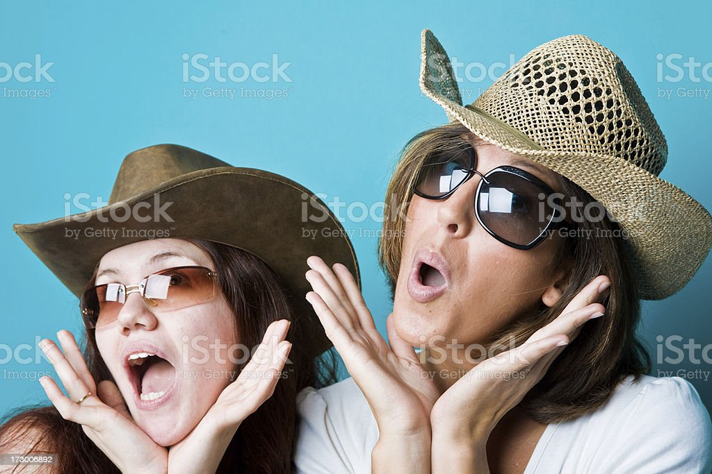 cowgirl country portrait on green royalty-free stock photo