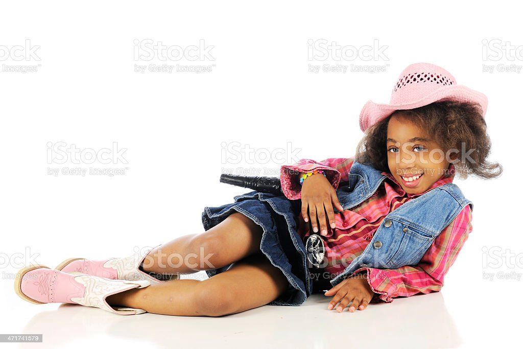 Cowgirl, Happily Relaxed royalty-free stock photo