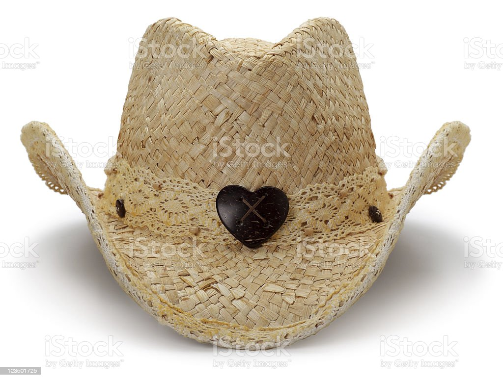 Cowgirl Hat Isolated on White royalty-free stock photo