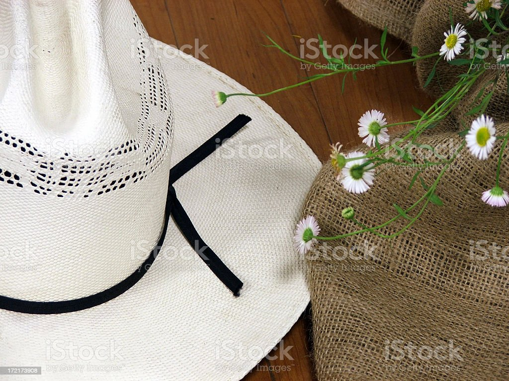 Cowgirl Hat Still Life royalty-free stock photo