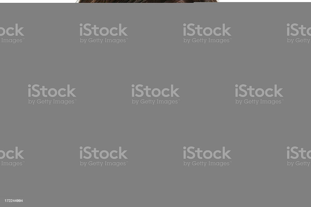 Cowgirl in Hiding royalty-free stock photo