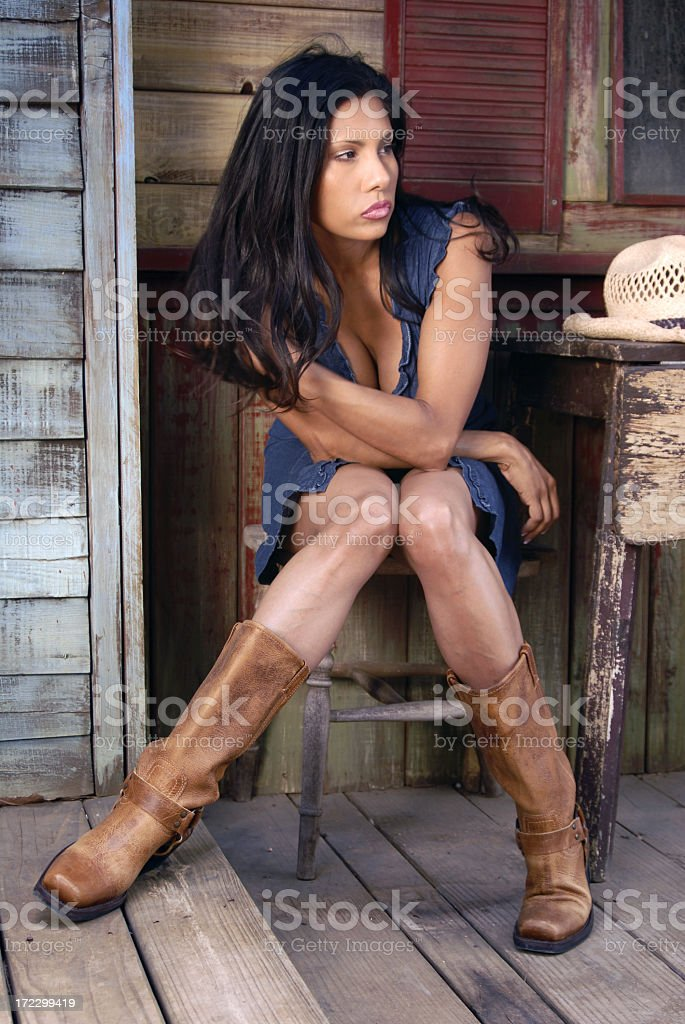 Cowgirl Model stock photo