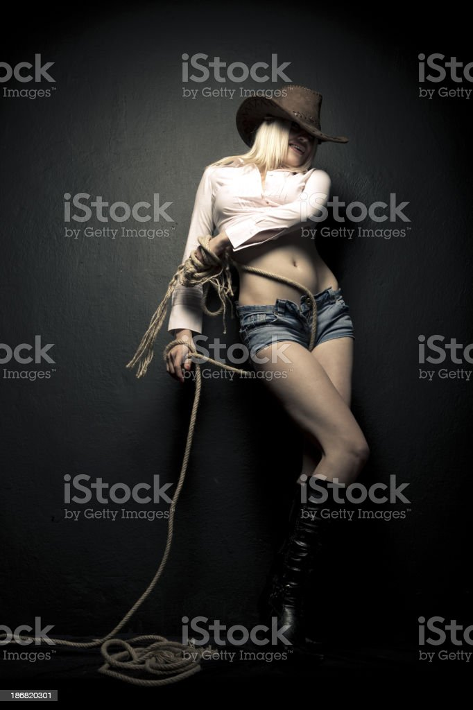 Cowgirl royalty-free stock photo